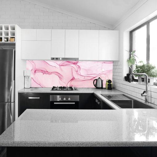 Tapeta kuchenna z różową akwarelą
