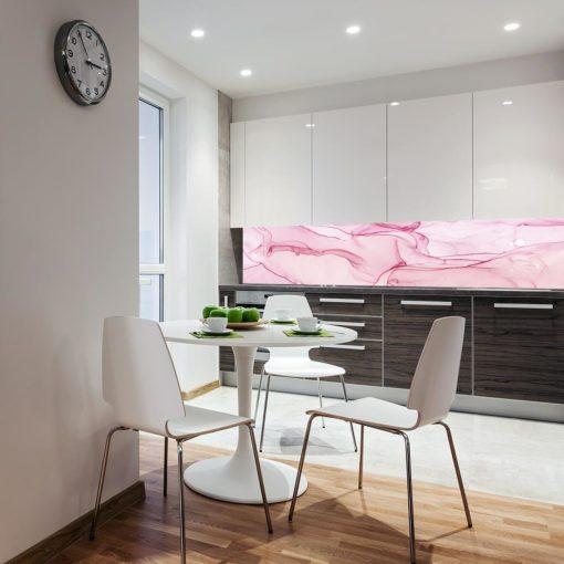 Kuchenna fototapeta w kolorze różowym