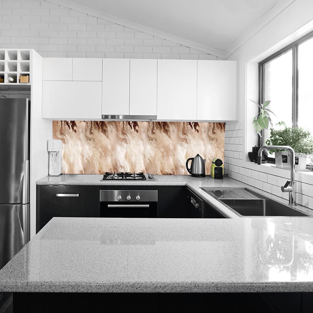 Kuchenna fototapeta z imitacją metalicznego wzoru