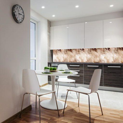 Tapeta beżowa na ścianę do kuchni