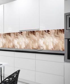 Tapeta kuchenna w kolorze beżowym