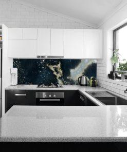 Fototapeta kuchenna z granatową abstrakcją