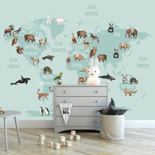 fototapeta kontynentalne zwierzęta