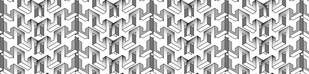 fototapeta geometryczny wzór na ścinę