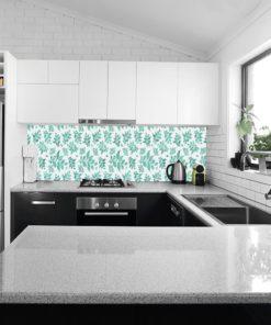 tapeta z miętowymi liśćmi do kuchni
