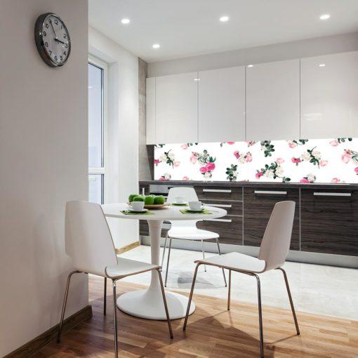 tapeta z kwiatami do kuchni