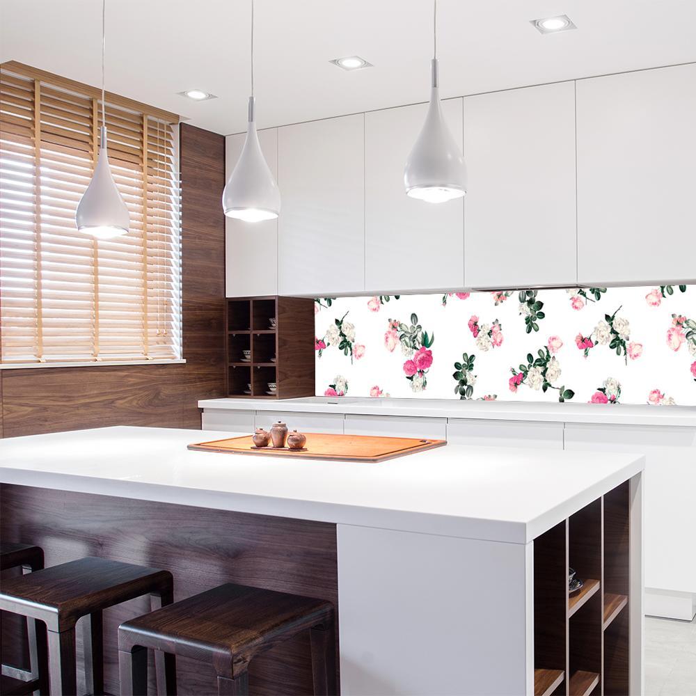 tapeta z kwiatami róż ko kuchni