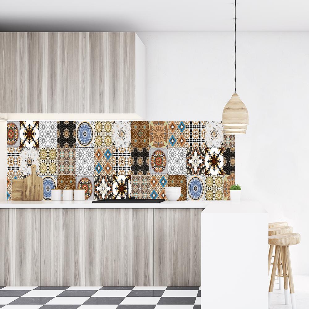 tapeta z marokańskimi kaflami na ścianę