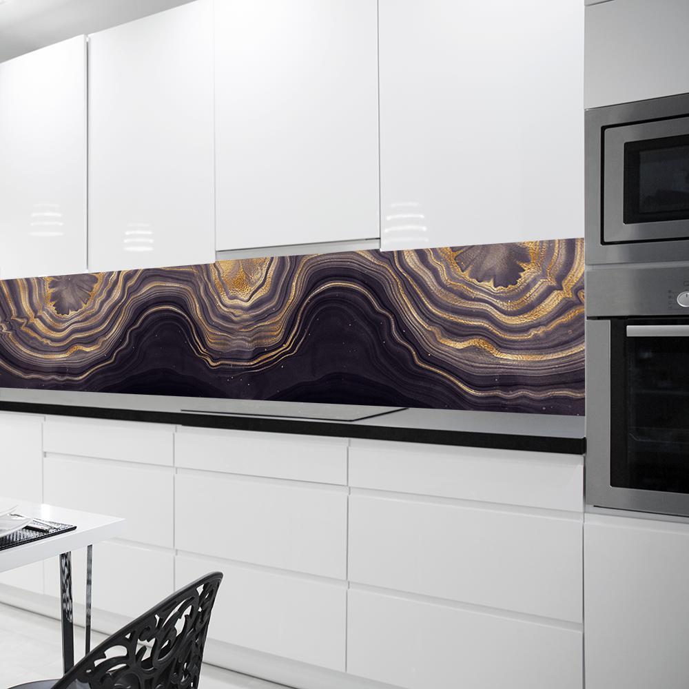 tapeta ze złotymi wzorkami do kuchni