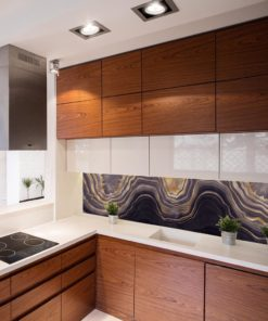 fototapeta ze złotym wzorem do kuchni
