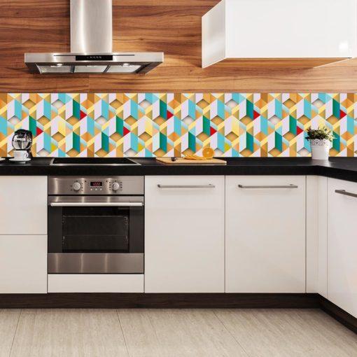 fototapeta z wzorem 3d do kuchni