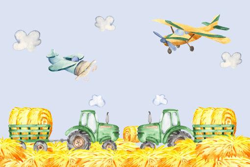 tapeta z samolotami i traktorami