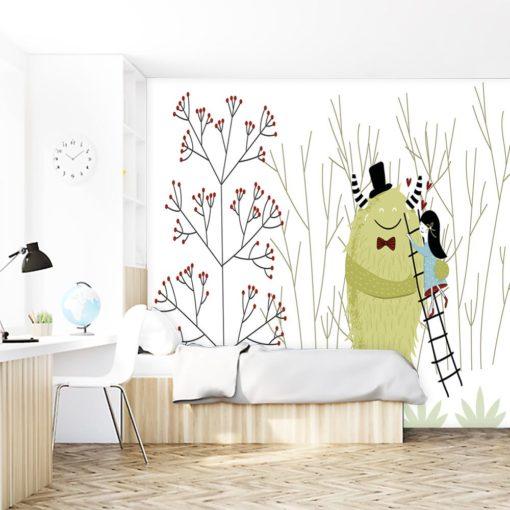 tapeta z motywem przytulenia na ścianę