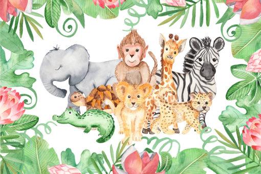 tapeta z motywem zwierząt na ścianę