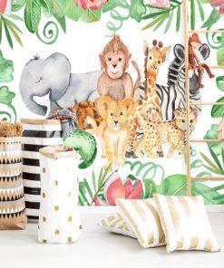 zwierzęta na tapetę do pokoju dziecka