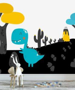 fototapeta z dinozaurem na ścianę