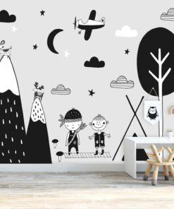 bajkowe postacie na tapecie na ścianę