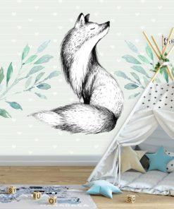 fototapeta przedstawiająca lisa do pokoju dziecka