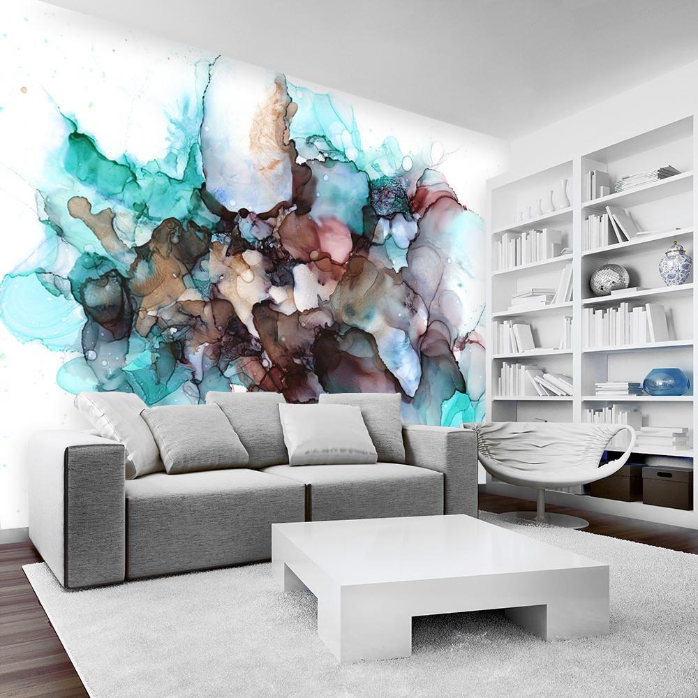 fototapeta do salonu z kolorową abstrakcją