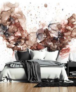 fototapeta do sypialni z brązowymi elementami