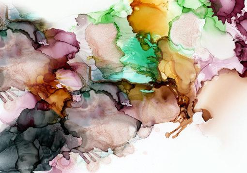 fototapeta z abstrakcyjnymi plamami