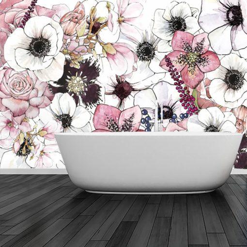tapeta z motywem kwiatów