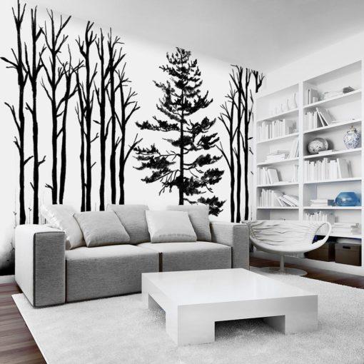 fototapeta z motywem drzew