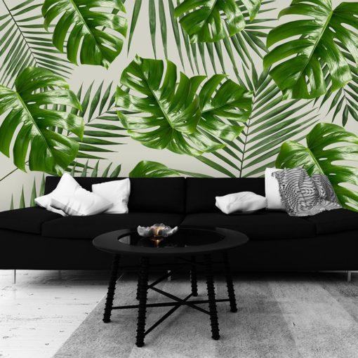 tapeta tropikalne liście