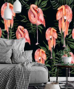 fototapeta z motywem flamingów