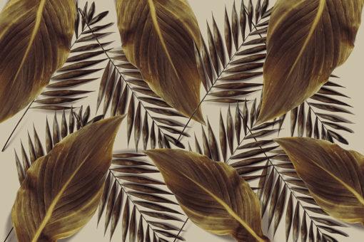 tapeta z motywem liści