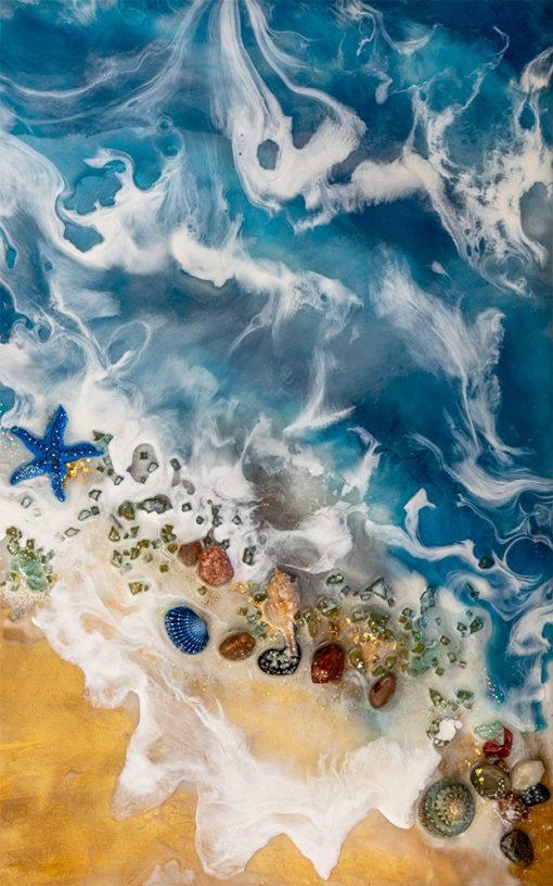 fototapeta z morskimi falami