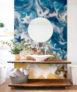 fototapeta z morskim widokiem do łazienki