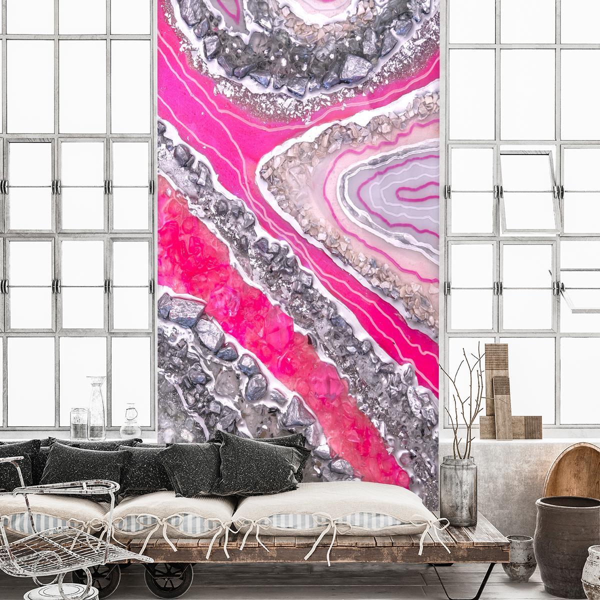 różowa dekoracja ścienna