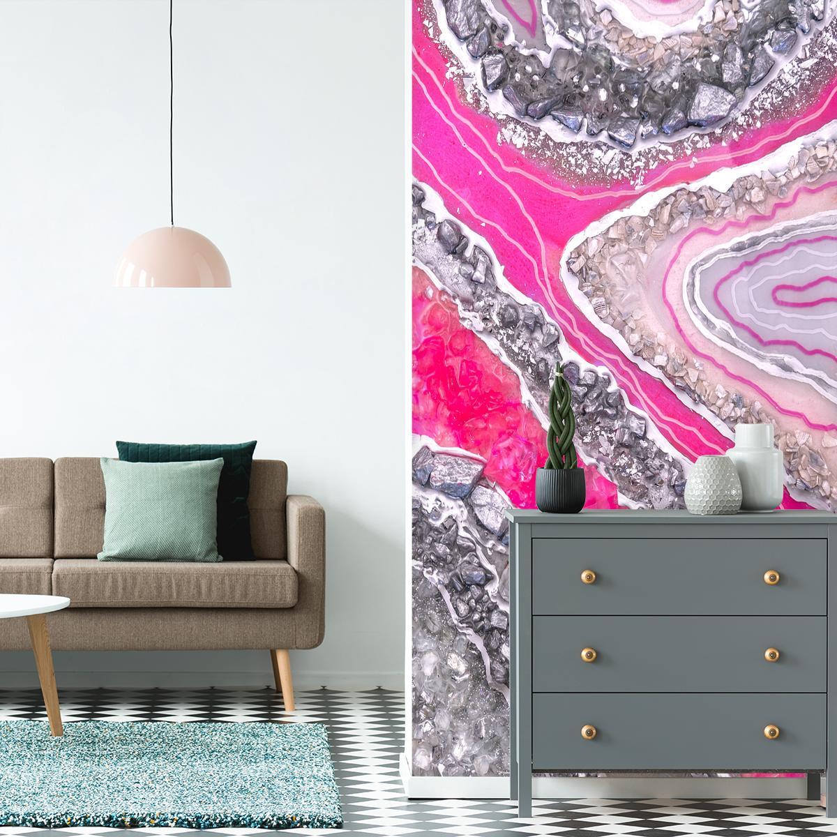 dekoracja różowa ze wzorami