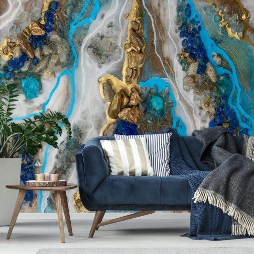 dekoracja żywiczna jako tapeta