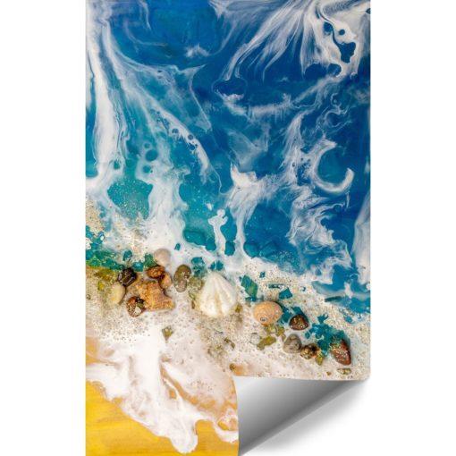 morska abstrakcja jako tapeta