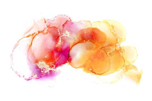 różowo-pomarańczowa dekoracja