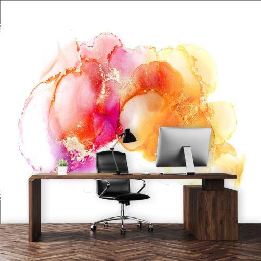biuro dekorowane fototapetą