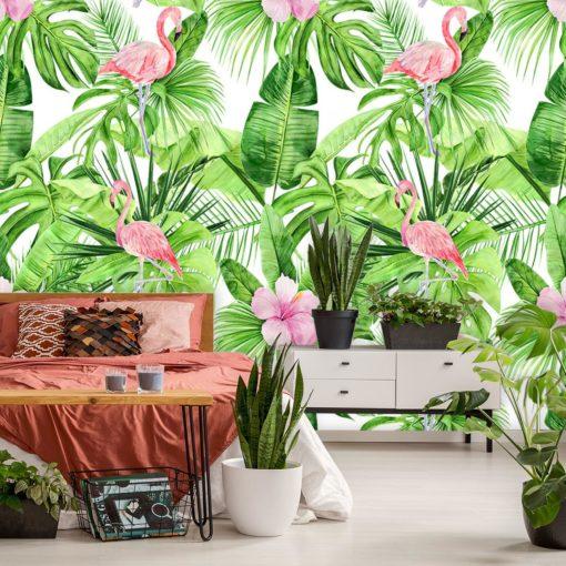 Dekoracja do łazienki z tropikami