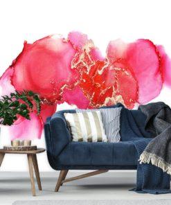 Koralowo-różowa abstrakcja na tapecie