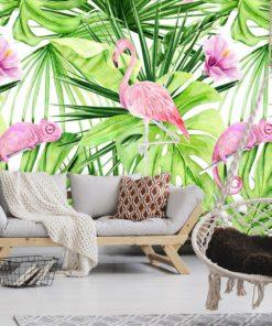tapeta z motywem flaminga