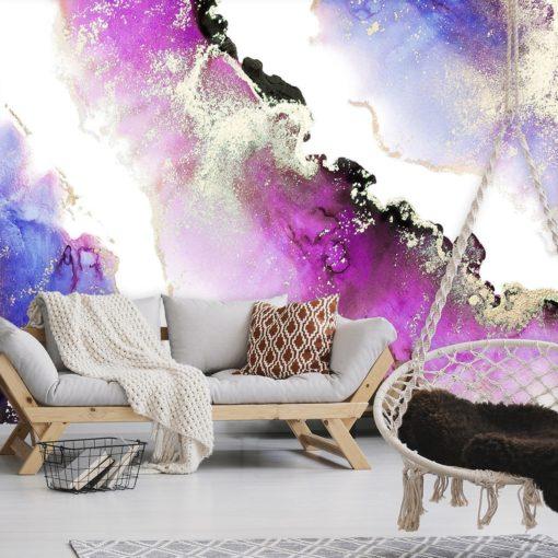 Fototapeta do salonu z fioletowymi plamami