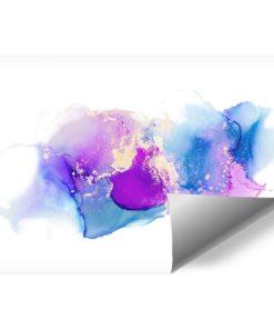 abstrakcyjna plamka jako niebieska dekoracja