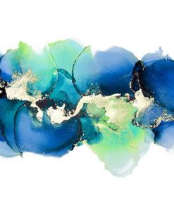 niebieska tapeta z abstrakcyjnymi plamami