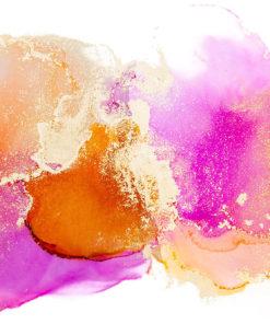 fototapeta z różowo-pomarańczowymi plamkami