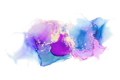 tapeta ścienna jako dekoracja niebieska