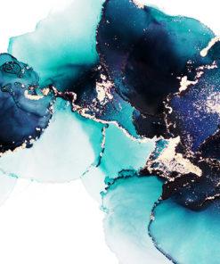 Foto-tapeta z granatowymi abstrakcyjnymi motywami