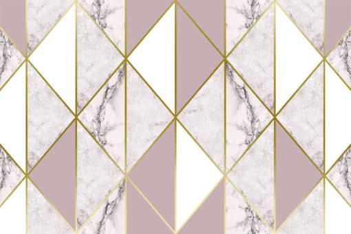 Marmur w złocie i różu jako tapeta na ścianę