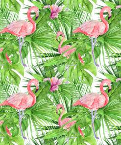 różowe flamingi na tapecie