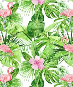 Ozdoba papierowa z tropikalną roślinnością